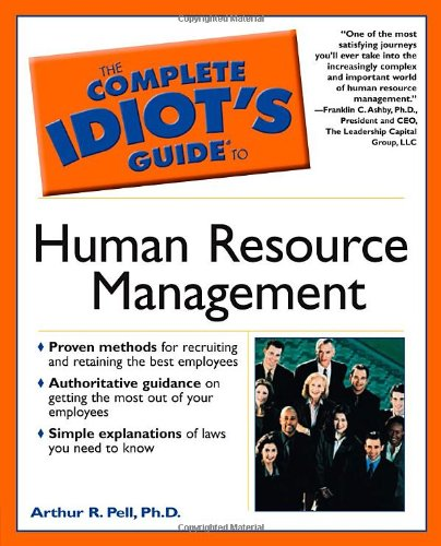 9780028641942: The Complete Idiot's Guide to Human Resource Management