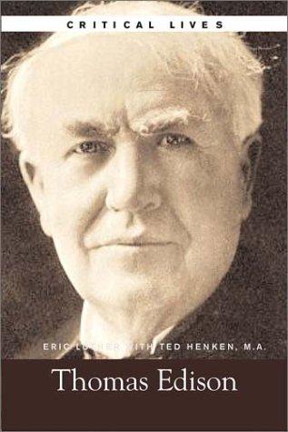 9780028642291: Thomas Edison, Critical Lives