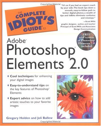 9780028643557: The Complete Idiot's Guide to Adobe Photoshop Elements 2.0