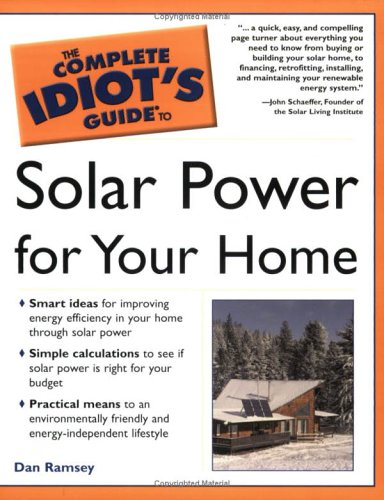 9780028643939: Complete Idiot's Guide to Solar Power for Your Home
