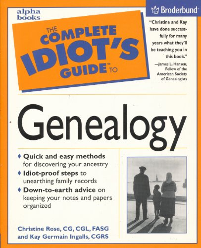 9780028643946: The Complete Idiot's Guide to Genealogy