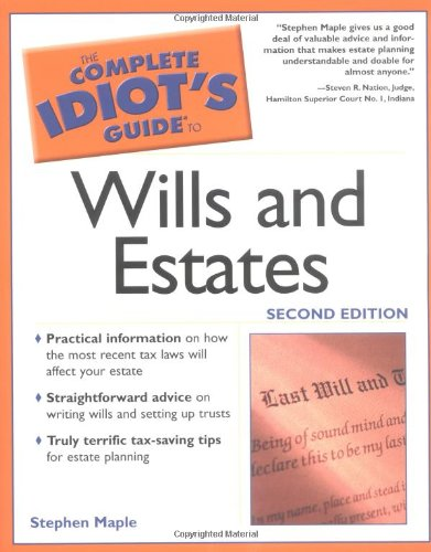 9780028644097: The Complete Idiot's Guide to Wills and Estates (Complete Idiot's Guides)
