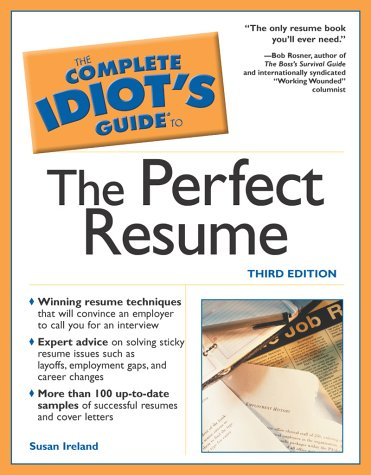 9780028644400: The Complete Idiot's Guide to Perfect Resume, 3E