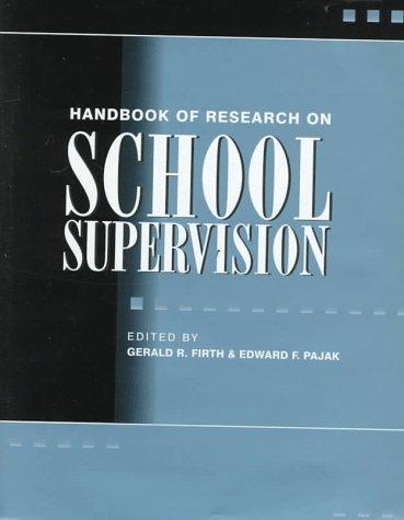 9780028646626: Handbook of Research on School Supervision (Macmillan research on education handbook series)