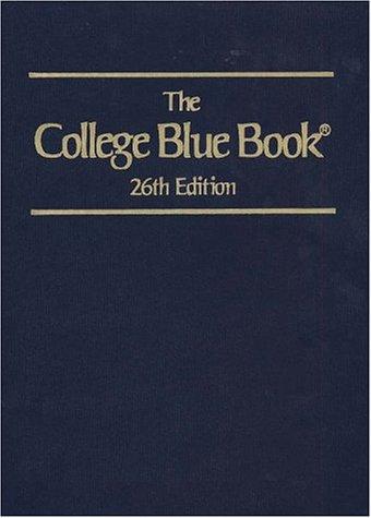 9780028647586: The College Blue Book (26th ed. 5 Vol Set)