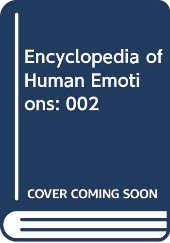 9780028647678: Encyclopedia of Human Emotions