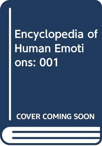 9780028647685: Encyclopedia of Human Emotions, Vol. 1