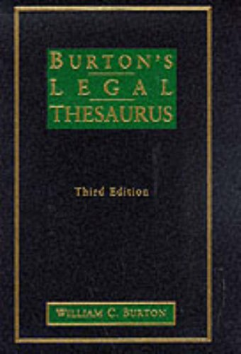 9780028649863: Burton's Legal Thesaurus