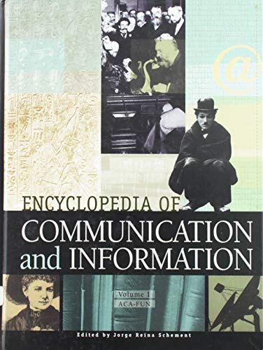 9780028653839: Encyclopedia of Communication and Information, Vol. 1