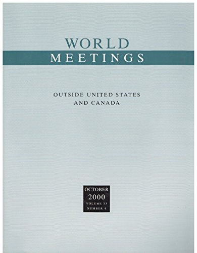 9780028655215: World Meetings: Outside United States and Canada, October 2000
