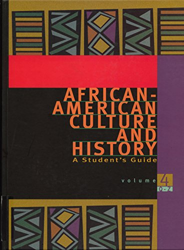 9780028655352: African-American Culture and History: A Student's Guide (Volume 4)