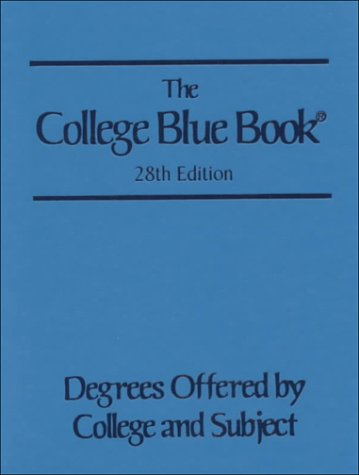 9780028655789: College Blue Book: Volume 3 - Degrees Offered By Colleges and Subject. 28th Edition