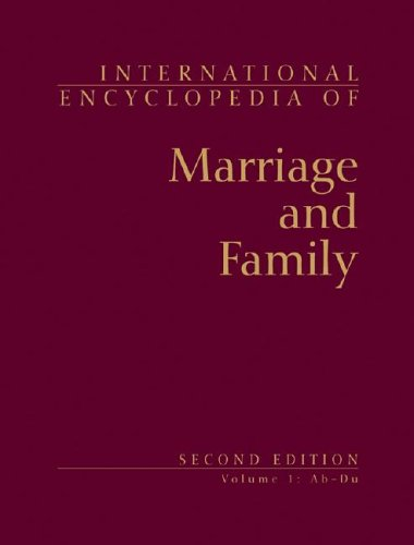 9780028656724: International Encyclopedia of Marriage and Family