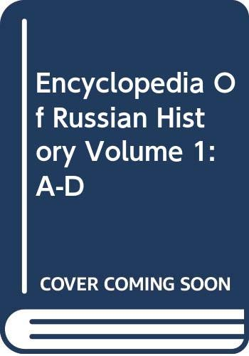 9780028656946: Encyclopedia of Russian History: 001