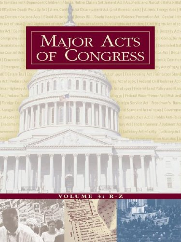 9780028657493: Major Acts of Congress ( 3-Volume Set )