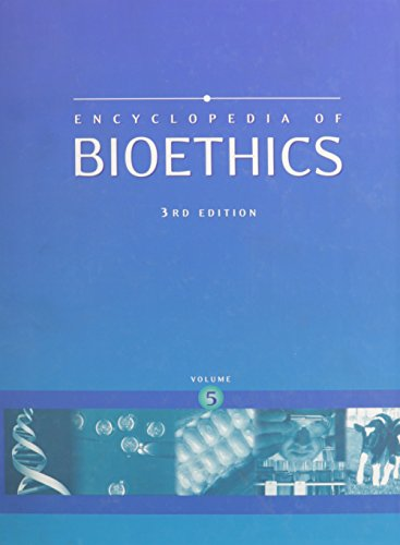 9780028657790: Encyclopedia of Bioethics, Vol. 5 (3rd Edition)