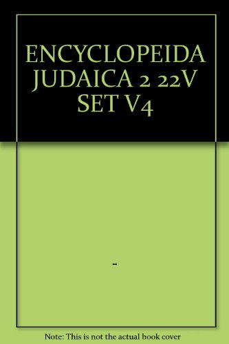 9780028659329: Encyclopaedia Judaica, Volume 4: Blu - Cof