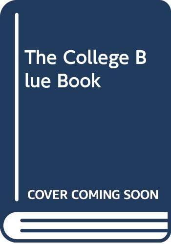 9780028659534: College Blue Book (College Blue Book (6v.))