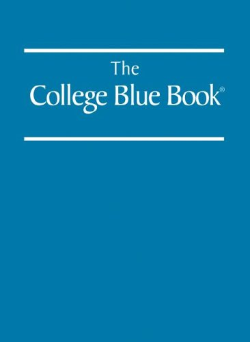 9780028659992: College Blue Book