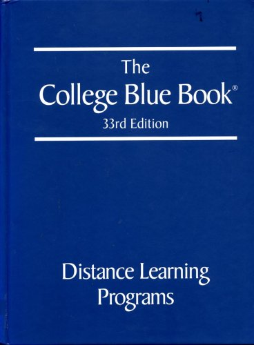 9780028660059: The College Blue Book 33rd Edition: Distance Learning Programs (Volume 6)
