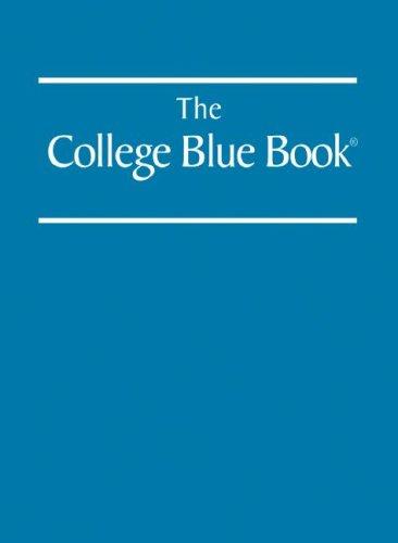 9780028660066: College Blue Book (Volumes 1 - 6)