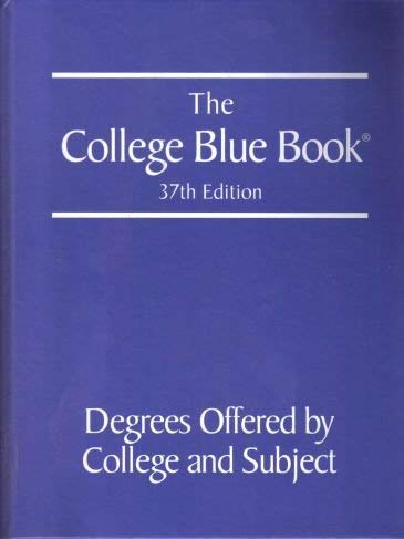 9780028661032: The College Blue Book: Tabular Data 37th Edition (Vol. 2)