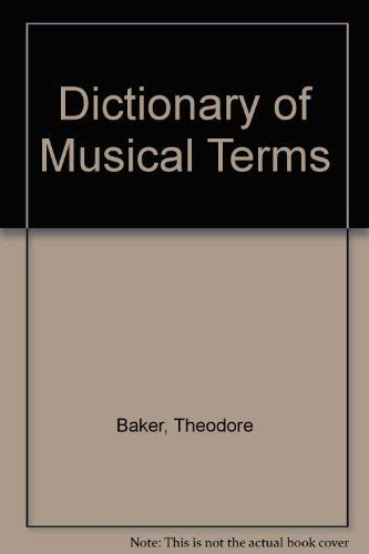 9780028702001: Dictionary of Musical Terms