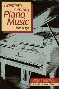 9780028703213: Twentieth-Century Piano Music (Studies in Musical Genres and Repertories)
