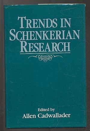 9780028705514: Trends in Schenkerian Research