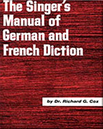 9780028706504: Singer S Manual of German and French Diction