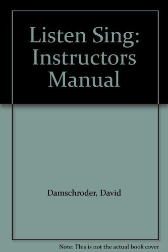 9780028706672: Listen Sing: Instructors Manual