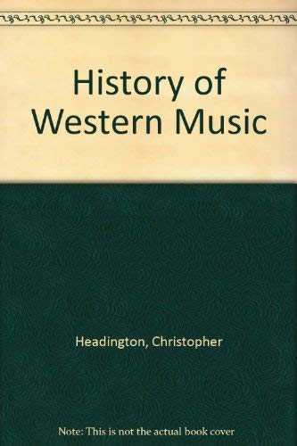 9780028710808: History Western Music
