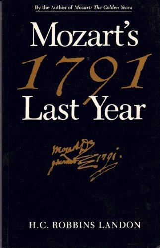 9780028713151: 1791, Mozart's Last Year