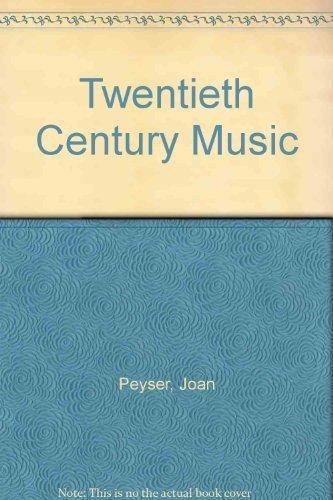 9780028718804: Twentieth-Century Music: The Sense Behind the Sound