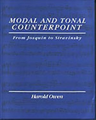 9780028721453: Modal and Tonal Counterpoint: From Josquin to Stravinsky