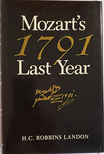 9780028725925: Mozart's Last Year/1791