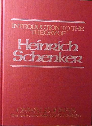 9780028731209: Introduction to the Theory of Heinrich Schenker