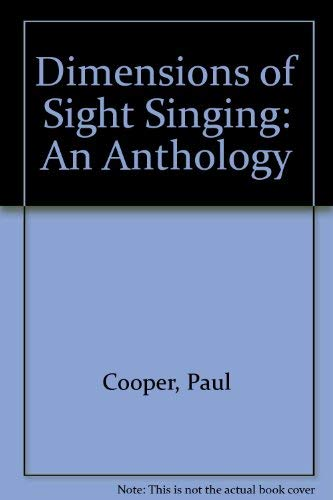 9780028732701: Dimensions of Sight Singing: An Anthology