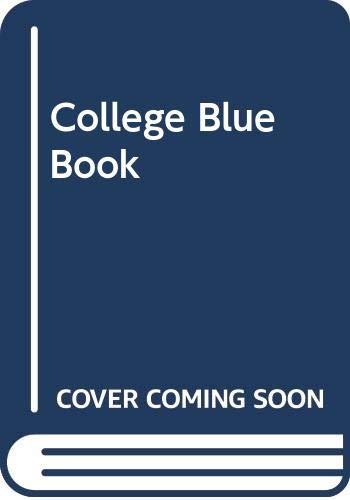 9780028950044: College Blue Book