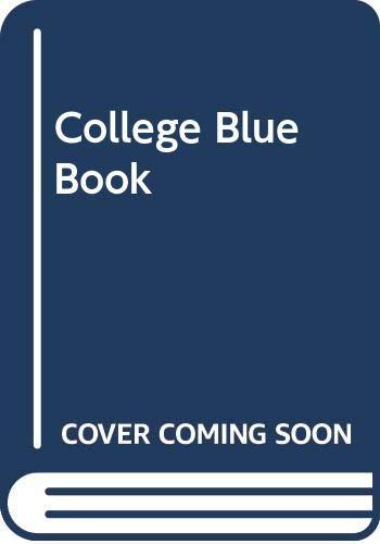 9780028950044: College Blue Book