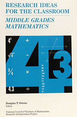 9780028957920: Middle Grades Mathematics (Research Ideas for the Classroom)