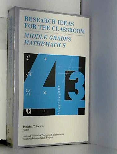9780028957951: Middle Grades Mathematics (Research Ideas for the Classroom)