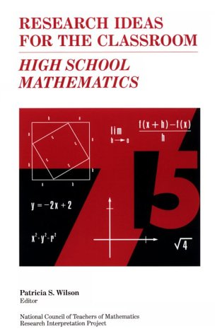 9780028957968: Research Ideas for the Classroom: High School Mathematics Vol 3