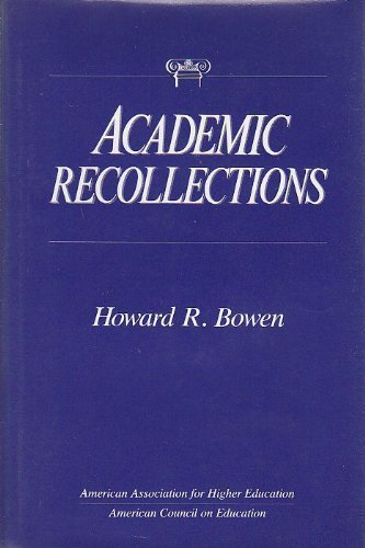 9780028959917: Academic Recollections