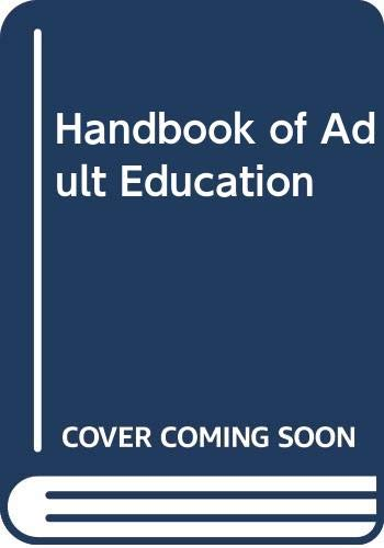 9780028961101: Handbook of Adult Education