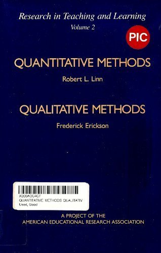 9780028970066: Quantitative Methods Qualitative Methods: A Project of the American Educational Research Association (Research in Teaching and Learning, Vol. 2)