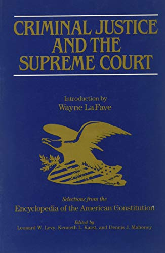 9780028972152: Criminal Justice and the Supreme Court