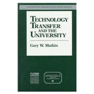 9780028972633: Technology Transfer and the University
