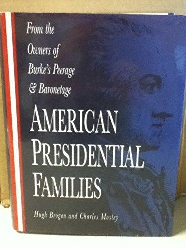 9780028973050: American Presidential Families