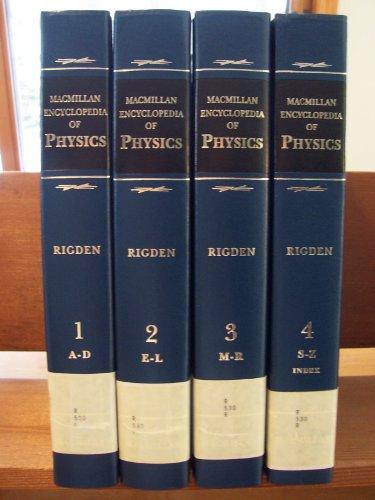9780028973593: Macmillan Encyclopedia of Physics (MacMillan Science Library)